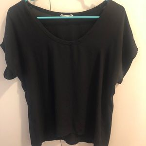 The cutest black top from Nordstrom!